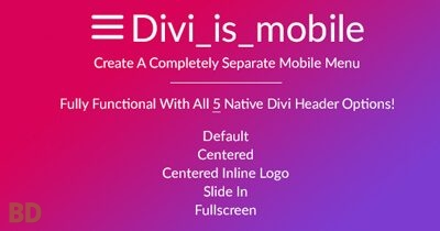 Divi Is Mobile Plugin