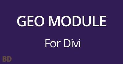 Geo Module Plugin