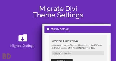 Migrate Divi Theme Settings Plugin