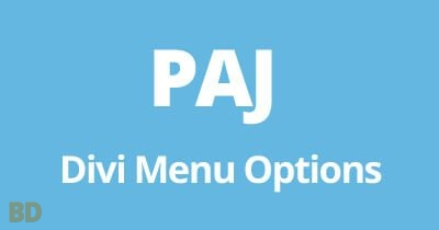 PAJ Divi Menu Options