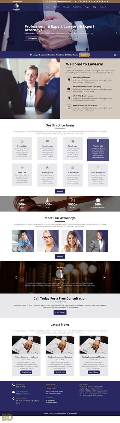 DP Lawyer Attorney Child Theme Long
