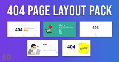 404 Page Divi Layout Pack