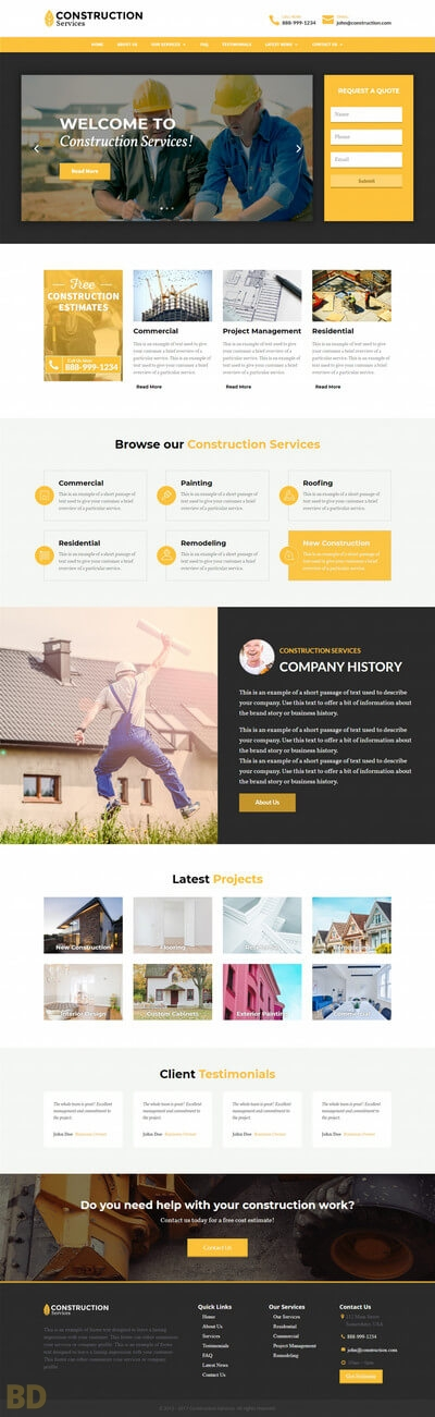 Construction Divi Child Theme Long