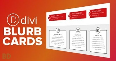 Divi Blurb Cards Layout