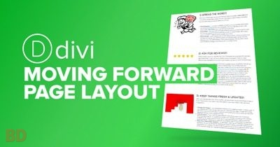 Divi Moving Forward Page