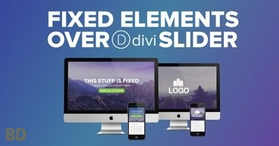 Fixed Elements Divi Slider Layout