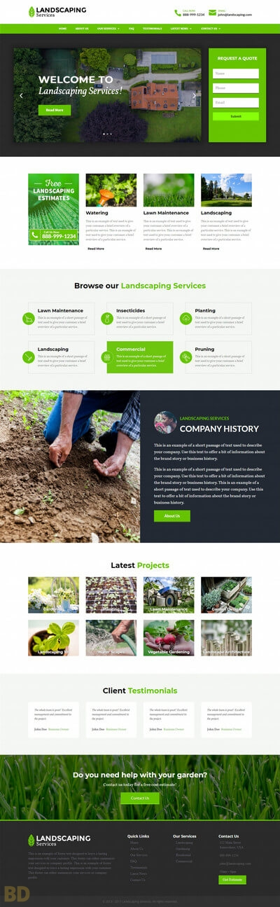 Landscaping Divi Child Theme Long