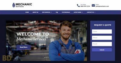 Mechanic Divi Child Theme