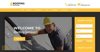 Roofing Divi Child Theme