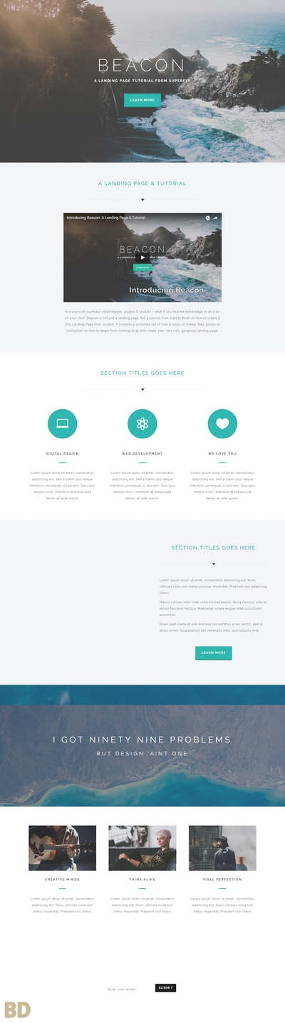 Beacon Superfly Landing Page Layout Long