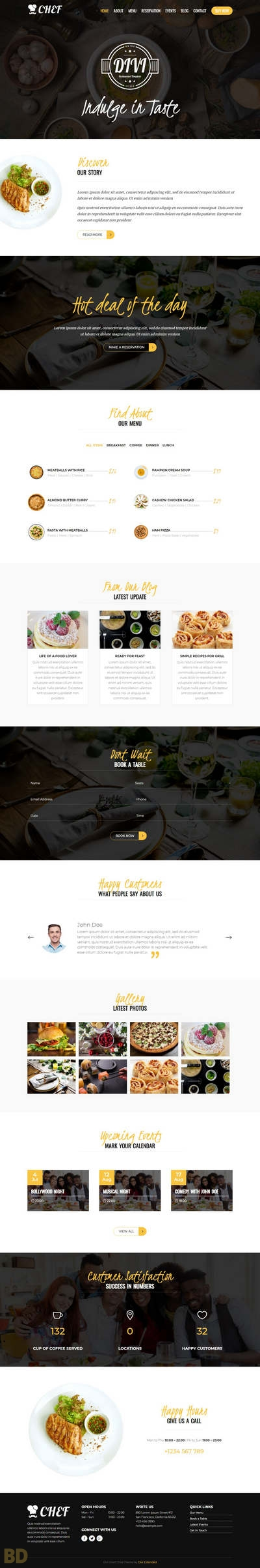Divi Chef Diviextended Long